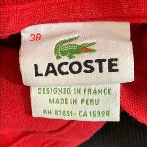 Lacoste Tops - Lacoste Red Polo Size 38 Pre Loved
